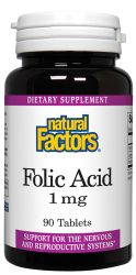 Folic Acid 1mg with 20mg C 90 tablets