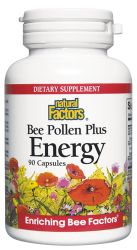 Bee Pollen Plus Energy 450mg with Gotu Kola & Siberian Ginseng & Royal Jelly 90 capsules